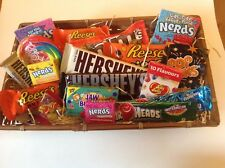 American USA sweets basket/hamper - Wonka, Reece's, Hershey, JellyBelly,AirHeads