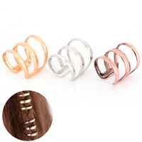 2x Dreadlock Beads Tube Ring for Braids Hair Beads Adjustable Braid Cuff Clip nk