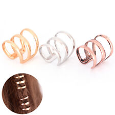 2 PCS Dreadlock Beads Tube Ring for Braids Hair Beads Adjustable Braid Cuff Clip
