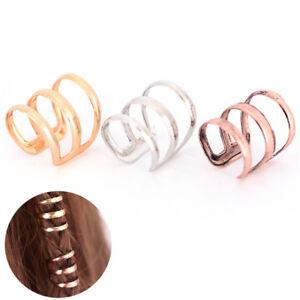 Dreadlock Beads Tube Ring for Braids Hair Beads Adjustable Braid Cuff CliYJSG