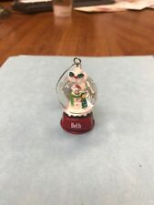Cute GANZ Personalized Name Snowman Snow Globe Ornament Beth
