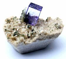 6.4g Rare Transparent Purple Cube Fluorite Mineral Crystal Specimen/China