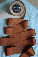 "10 yard 1 1/2"" wide vintage roll grosgrain golden brown ribbon hat dress (229)"