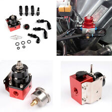 Universal Car AN6 Adjustable Fuel Pressure Regulator Kit with Oil Filled Guage