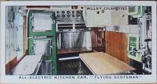 No31 ELECTRIC KITCHEN CAR FLYING SCOTSMAN Railway Equipment W.D.& H.D Wills 1938