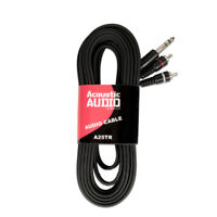 Acoustic Audio A25TR Dual RCA to Stereo TRS Jack 25 Feet Pro Audio Cable