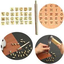 20 Stück Leder drucken Metall Werkzeuge Schnitzen Stempel Carving Stanze Set