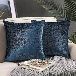 Navy Blue Velvet Pillow Cushion Cover Silver Foil Metallic Pillows Velvet Throw