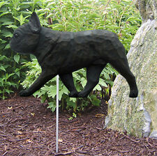 French Bulldog Outdoor Garden Dog Sign Hand Painted Figure Black Brindle