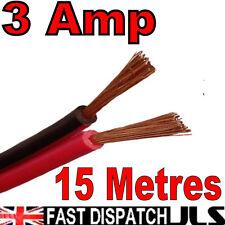15m 3A Red + Black 12v DC 12 Volt Car Auto Cable Speaker Wire Figure 8 15 meter