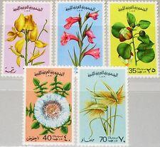 LIBYEN LIBYA 1976 547-51 634-38 Flowers Blumen Flora Pflanzen Plants MNH