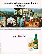 PUBLICITE  1968   MUTZIG  bière d'ALSACE