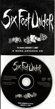 SIX FEET UNDER True Carnage SAMPLER 3TRX PROMO DJ CD single 2001 Limited Edition