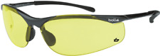Bolle SIDEWINDER SAFETY GLASS Medium Impact Protection, AMBER Lens *Aust Brand
