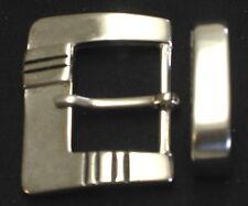 GÜRTELSCHNALLE + SCHLAUFE für 3cm breite GÜRTEL Metall VERZIERT Stabil NEU Top #