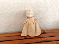 "Vintage 1950s Japan 3.5"" Kewpie Flapper Charlotte Doll Cream Dress"