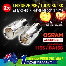 2PCS Amber 12V 60W LED OSRAM 1156 P21W Car Reverse Turn Signal Backup Light Bulb