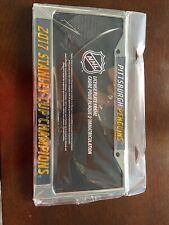 NHL Pittsburgh Penguins Black Laser Cut Chrome License Plate Frame