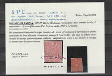 FRANCOBOLLI 1853/55 PARMA 15 C. VERMIGLIO VARIETA' Z/2181
