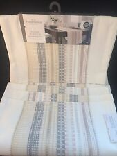 Threshold Table Runner and Four Placemats Sour Cream Metallic Threads NWT