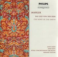 MAHLER Das Lied Von Der Erde (The Song Of The Earth) CD - New