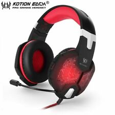 Kotion Each G1000 Headset For Live Gaming for PS4/Nintendo Switch/Xbox One Red
