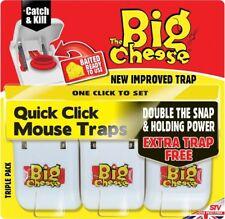 Paquete De 6 Big Cheese Rápido Click Listo Trampa Ratón Ratones Roedores ceba STV147 de plagas