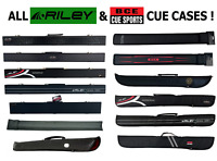 Pool Snooker Hard or Soft Cue Case ALL BCE & RILEY CASES For 50/50 Split Cue