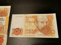 BILLETE DE 200 PESETAS DE  LEOPOLDO  ALAS  CLARIN    (  S/C )   SIN  SERIE
