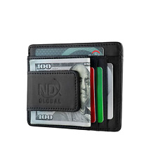RFID Wallet Money Clip Mens Leather Slim Blocking Credit Card ID Holder Travel