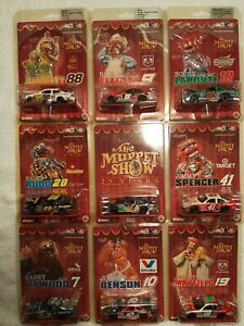 Action 2002 Muppet Show 25th Anniversary/Lot of 9 - Nascar drivers - 1/64th Car
