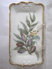 Haviland CFH GDM Celery Dresser Tray Hand Painted Circa 1900 Porcelain Antique
