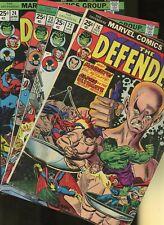 Defenders 16,22,23,24 * 4 Book Lot * Marvel Comics! Hulk! X-Men! Strange! Action