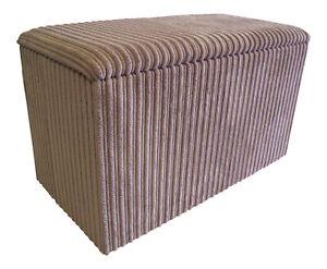 Ottoman / Toy Box / Hide Away Storage Solution -Beige Jumbo Cord