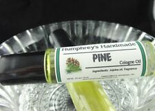 PINE Men's Unisex Cologne Oil, Roll On Jojoba, Pine Tree Christmas Fragrance