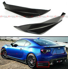 For 2013-16 Subaru BRZ JDM Sti TS Style 2pcs Rear Bumper Add-on Aero Side Aprons
