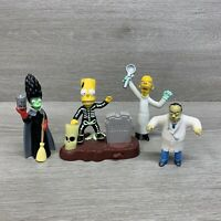 Burger King The Simpsons Treehouse Of Horror Halloween 4 Figures Lot