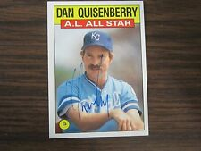 1986 Topps # 722 Dan Quisenberry Autographed / Signed Card (C Kansas City Royals