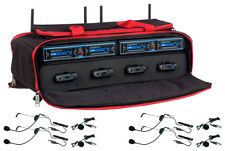 VOCOPRO UDH-PLAY-4-MIB Mix & Match 8 Mic Wireless System in Carry Case
