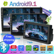 Double Din Car Radio 9inch Android 9.1 Car Stereo 2.5D Touch Screen GPS Navi FM