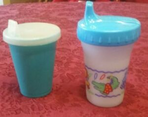 Vintage sippy cups Playtex and Safety 1st First Years 1998 & 1992