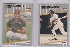 1989 Fleer Glossy RC Sandy Alomar Jr Roberto Alomar Padres