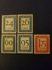 Full Set of 1958 Netherlands Postage Due New Values Stamps MNH
