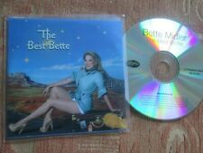Bette Midler ‎– The Best Bette Label: Rhino Records Promo CD Album