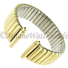 16-19mm Speidel Shiny Gold Tone Stainless Steel Mens Watch Band 575/37 LONG