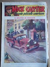 Nick Carter Il Grande poliziotto americano Anni 40 n°31 ed. NERBINI  [G369]