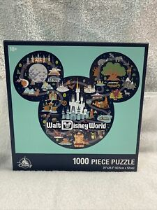 "Disney Parks 1000 Piece Walt Disney World Parks Puzzle 25""X20.5"" NIP"