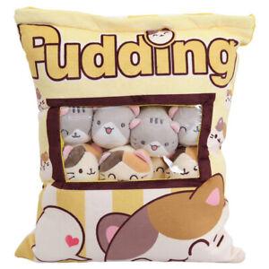 Plush Cute Throw Pillow Stuffed Toys Snack Doll Snack Pillow Pudding Plush Toys
