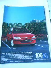 Publicté Advertising 1998  Peugeot 106 color line