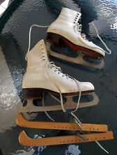 Riedell Ice Figure Skates Model 220-Ladies 4 (approx shoe size 6)-White